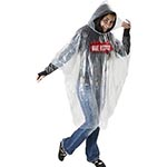Free size clear rain ponchos with logo