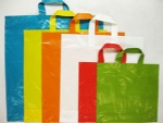 Color PE handle carrier bags